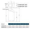 Kép 2/9 - EcoWater Comfort 400 méretek