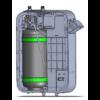 Kép 3/3 - HORECA Legkisebb méretű falra szerelhető vízlágyító
