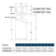 EcoWater Comfort 400 méretek
