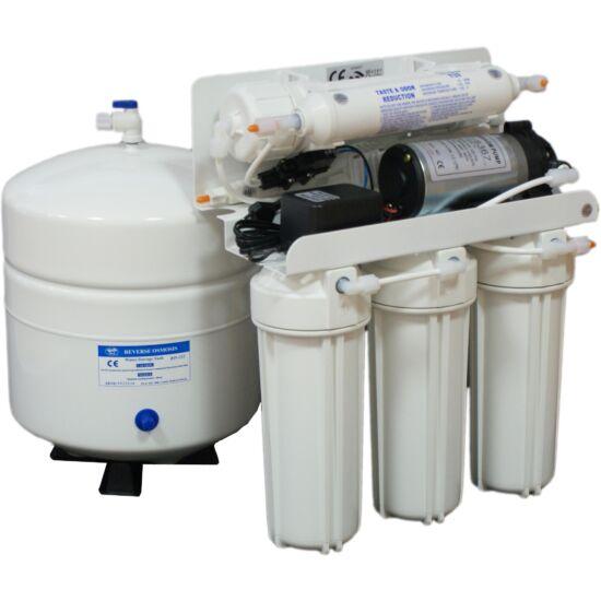 BlueClear-RO-50-P Háztartási víztisztító nyomásfokozó pumpával, nyomástartállyal, csapteleppel