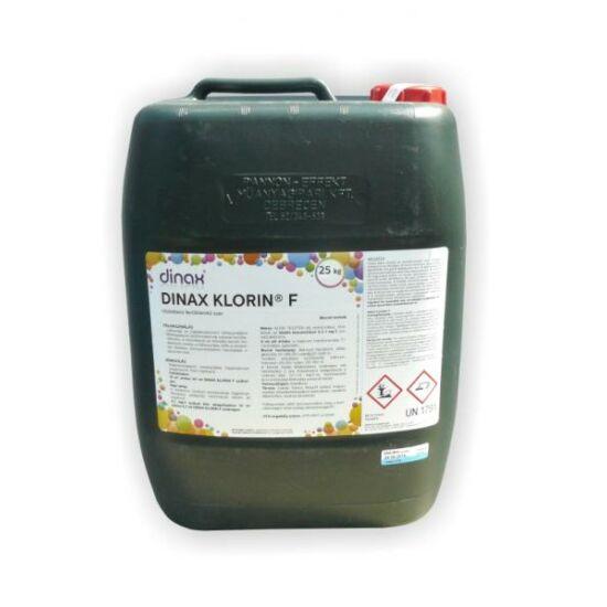 Klorin F, 150 g/l szabad aktív klór tartalmú (nátrium-hipoklorit alapú) klóros uszodavíz-fertőtlenítő szer (folyadék) 25 kg